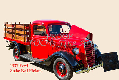 1937 Ford Stake Bed Pickup Antique Vintage Photograph Fine Art Prints Collectables