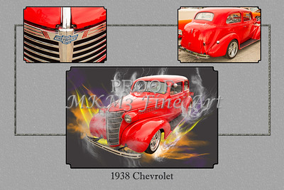 1938 Chevrolet photograph of an Antique Vintage Classic Car or Automobile in a Fine Art Print. This and other photographs can be purchased as canvas prints, framed prints, art prints, acrylic prints, metal prints, and as greeting cards or even on t-shirts. This historic car picture makes a beautiful gift for home décor, wall art print, or for your home or office. This automobile is red in color.