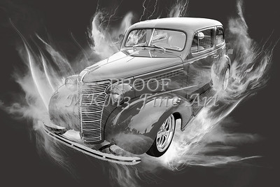 1938 Chevrolet Classic Car Photograph 6746.01