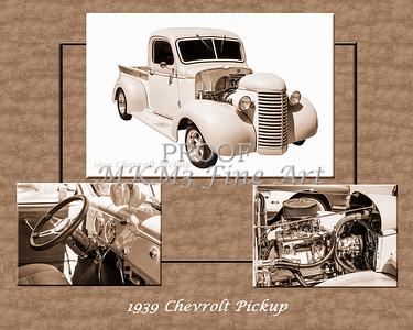 1939 Chevrolet Pickup Vintage Car Fine Art Prints Photograph Antique 3554.01