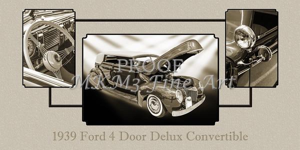 1939 Ford 4 Door Deluxe Convertible 5542.50