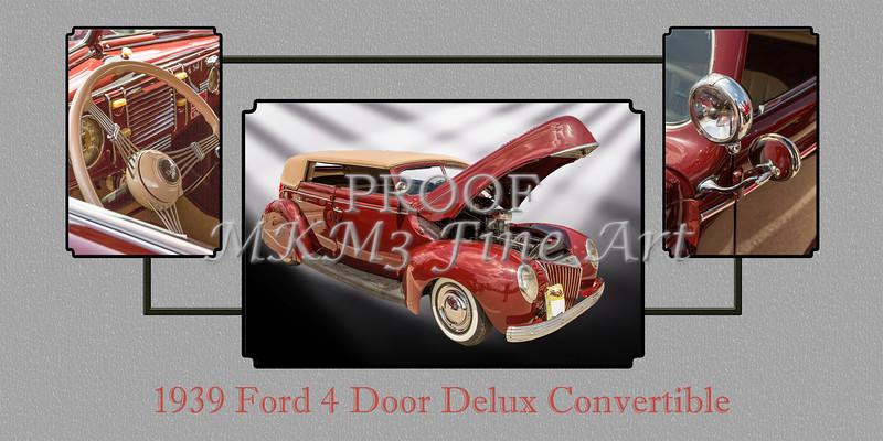 1939 Ford 4 Door Deluxe Convertible 5542.01