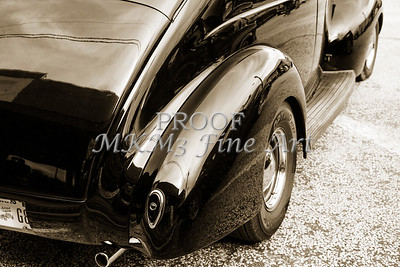 1939 Ford Coupe Sedan Classic Car Rear Fender in sepia 3416.01