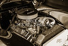 1939 Ford Coupe Sedan Classic Car Front Engine in sepia 3414.01