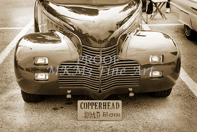1940 Chevrolet Master Classic Car Automobile Front End Sepia  3111.01