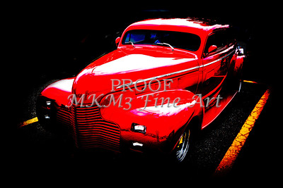 1940 Chevrolet Master Fine Art Classic Car Automobile Color Red  3110.03