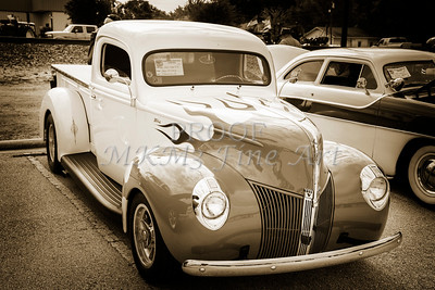 1940 Ford Pickup Truck Car or Automobile in Sepia  3137.01