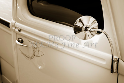 1940 Ford Pickup Truck Mirror Car or Automobile in Sepia  3138.01
