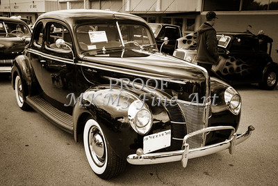 1940 Ford antique automobile 0r Classic car Photograph in sepia 3189.01