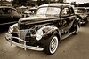 1940 Ford Classic car or antique automobile Photograph in sepia 3188.01