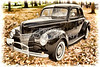 1940 Ford Classic car antique automobile painting Photograph in color 3196.02
