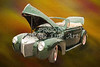 1940 Mercury Convertible Vintage Classic Car Painting 5234.03
