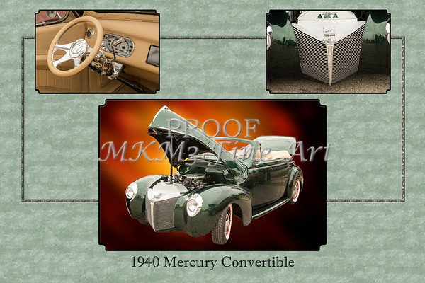 1940 Mercury Convertible Vintage Classic Car Painting 5238.02