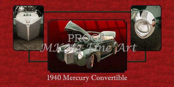 1940 Mercury Convertible Vintage Classic Car Painting 5239.02