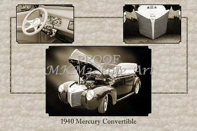 1940 Mercury Convertible Vintage Classic Car Painting 5236.01