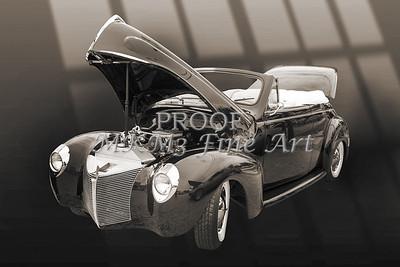 1940 Mercury Convertible Vintage Classic Car Photograph 5209.01