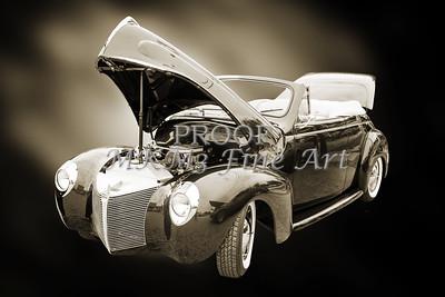 1940 Mercury Convertible Vintage Classic Car Photograph 5210.01