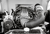 1941 Ford Pickup Engine Motor  Classic Automobile in Sepia 3082.01