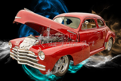 1946 Chevrolet Vintage Antique Classic Car Fine Art Print Photographs in Both Color and Black and White Sepia