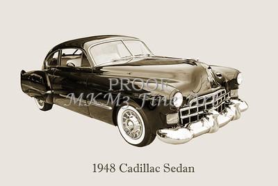 1948 Cadillac Sedan Classic Car Photograph 6722.01