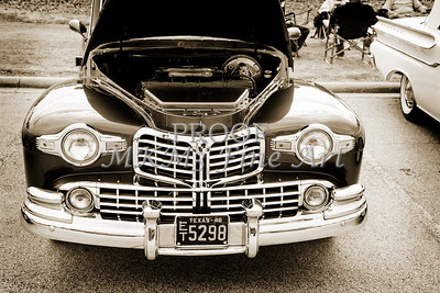 1948 Lincoln Continental Car or Automobile Front End in Sepia  3152.01