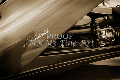 1948 Lincoln Continental Car or Automobile hood in Sepia  3150.01