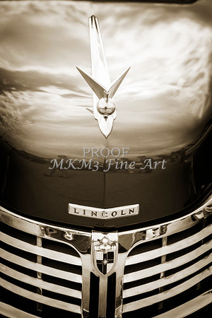 1948 Lincoln Continental Car or Automobile Emblem in Sepia  3156.01