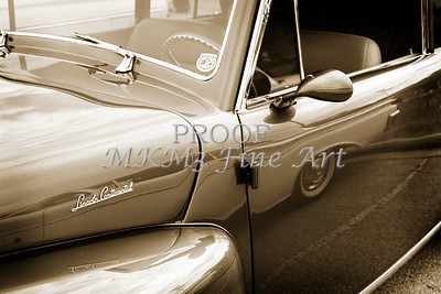 1948 Lincoln Continental Car or Automobile Door in Sepia  3157.01
