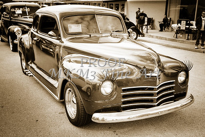 Complete 1948 Plymouth Classic Car in black and white sepia 3387.01