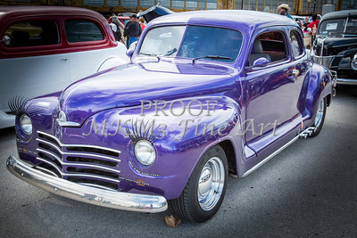 1948 Plymouth Classic Car Complete in Color of Purple 3386.02