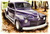 1948 Plymouth Classic Car painting photograph 3390.02