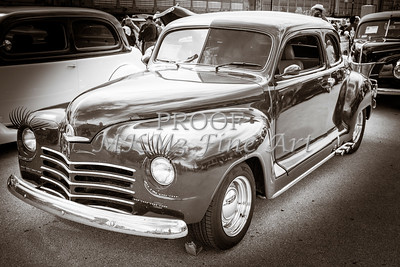 1948 Plymouth Classic Car Complete in Black and White Sepia 3386.01