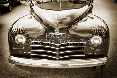 1948 Plymouth Classic Car Front End in Black and White Sepia 3385.01
