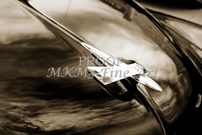 1949 Mercury Classic Car Hood Ornament in Sepia 3191.01