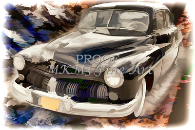 1949 Mercury Classic Car Painting in Color 3192.02