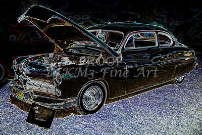 1949 Mercury Coupe in Color Dark Drawing 3036.04