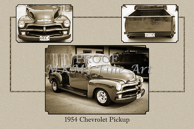 1954 Chevrolet Pickup Classic Car Photograph 6733.01