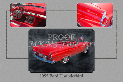 1955 Thunderbird Photograph Fine Art Prints 1251.02