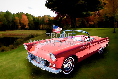 1955 Thunderbird Painting Fine Art Prints 1275.02