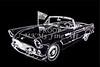 1955 Thunderbird Drawing Fine Art Prints 1274.01