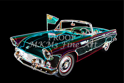 1955 Thunderbird Drawing Fine Art Prints 1273.02
