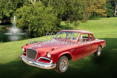 1956 Studebaker Power Hawk Photograph Print by M K Miller in both color, Sepia, Black and white.