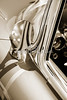 1958 Corvette by Chevrolet Outside Mirror in a Sepia Photograph 3492.01