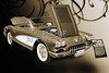 1958 Corvette by Chevrolet and a Sepia Photograph 3484.01