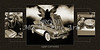1958 Corvette by Chevrolet and Dark Angel Collage Sepia Print 3513.01