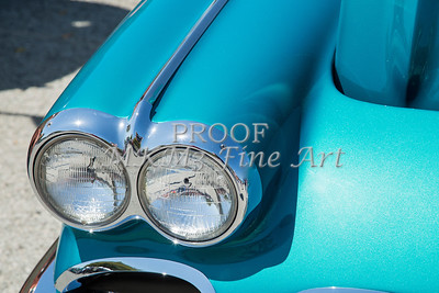 1958 Corvette by Chevrolet Headlights and a Color Photograph 3486.02