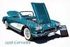 1958 Corvette by Chevrolet Painting Print 3481.02