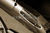 1958 Corvette by Chevrolet Tail Light in a Sepia Photograph 3490.01