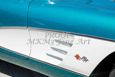 1958 Corvette by Chevrolet Side Panel in a Color Photograph 3488.02