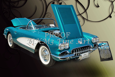 1958 Corvette by Chevrolet and a Color Photograph 3484.02